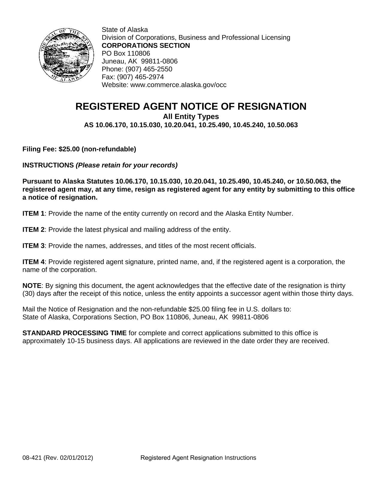alaska-registered-agent-notice-of-resignation