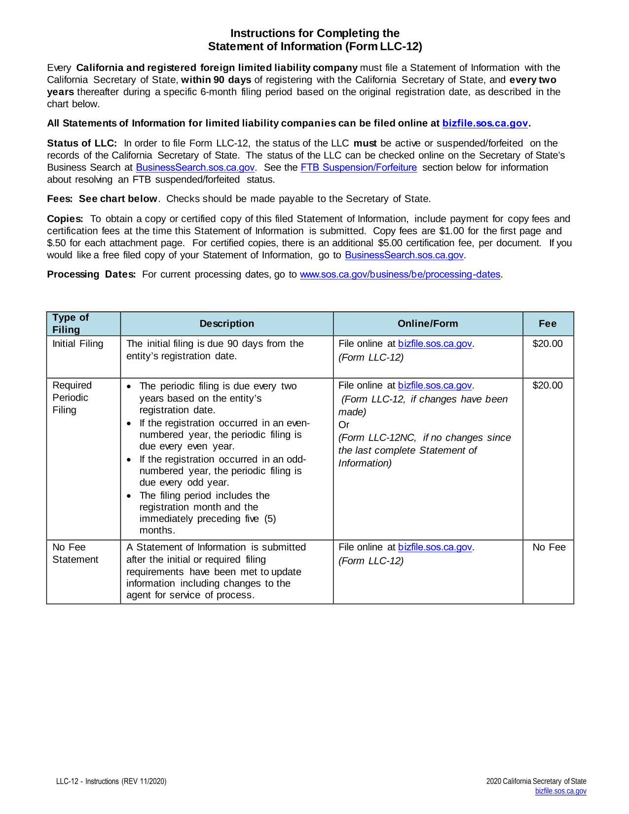 Pay Registration Online Ca >> California Application For Registration Foreign California Llc