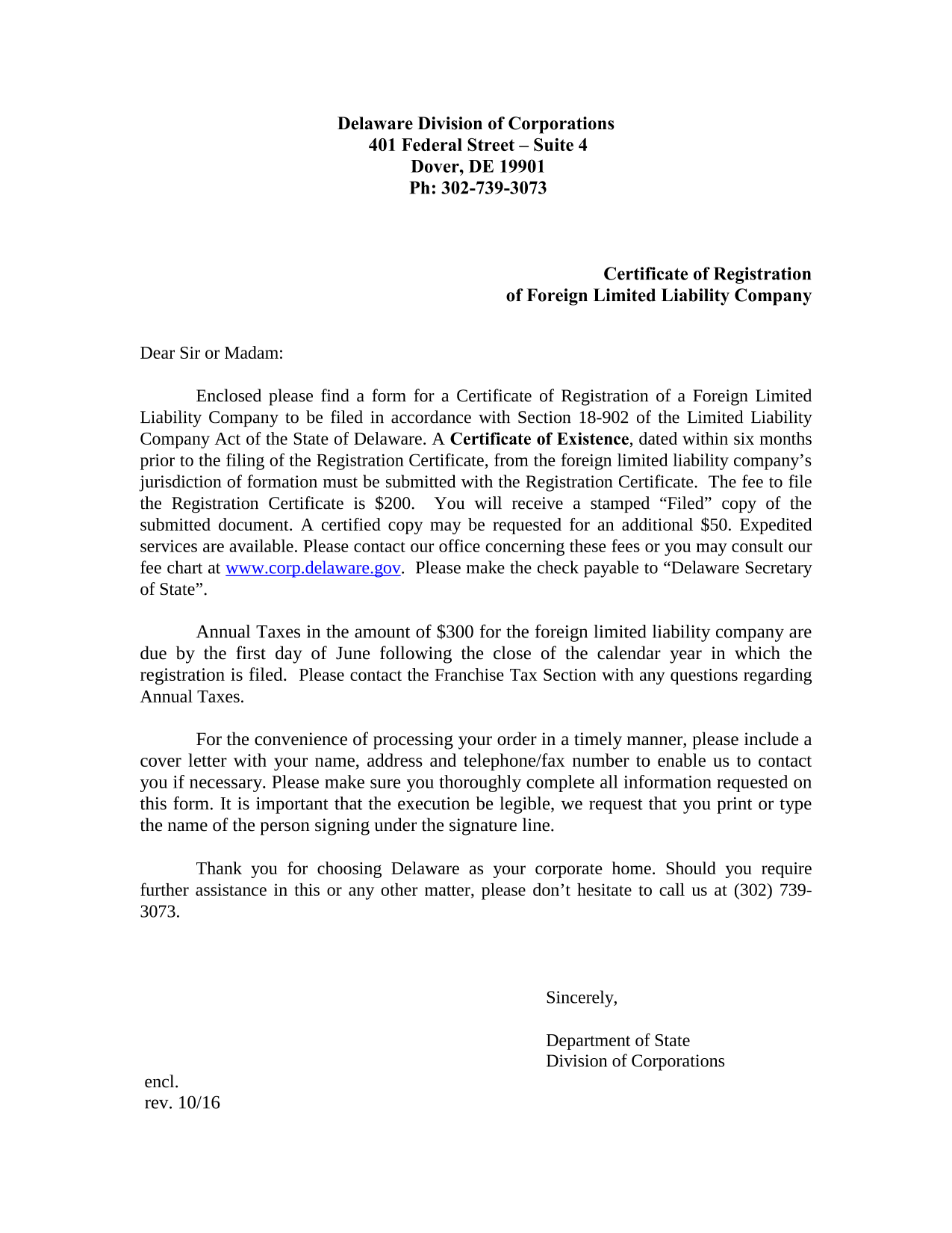 delaware-certificate-of-registration-of-a-foreign-limited-liability-company