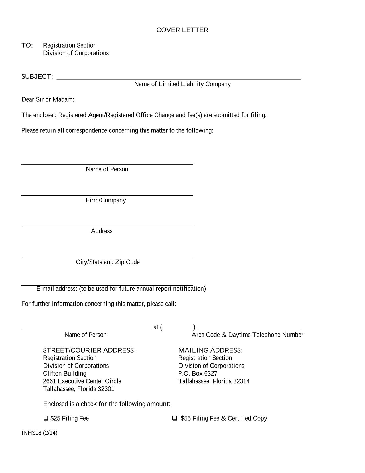 florida-llc-statement-of-change-of-registered-agent