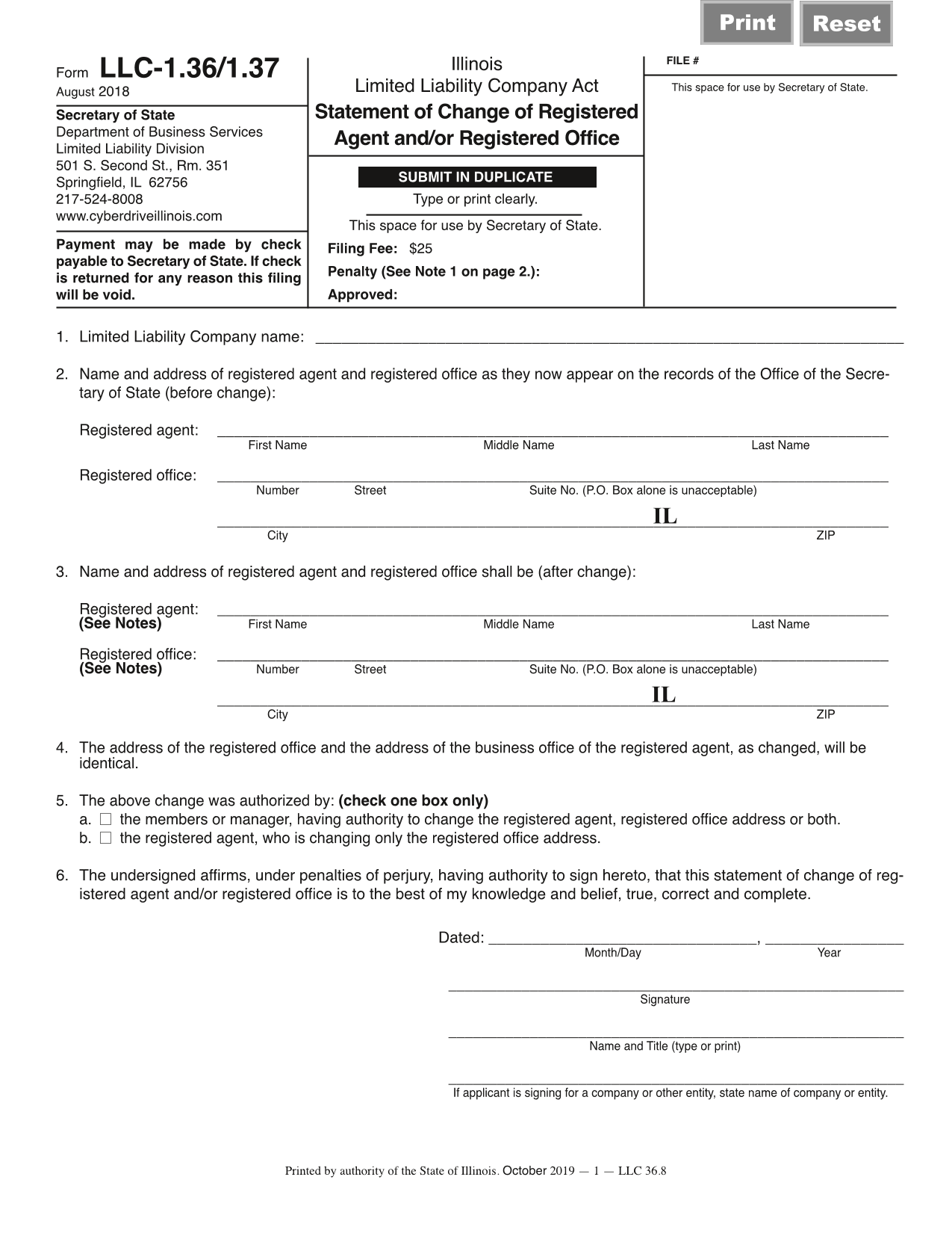 illinois-llc-statement-of-change-of-registered-agent
