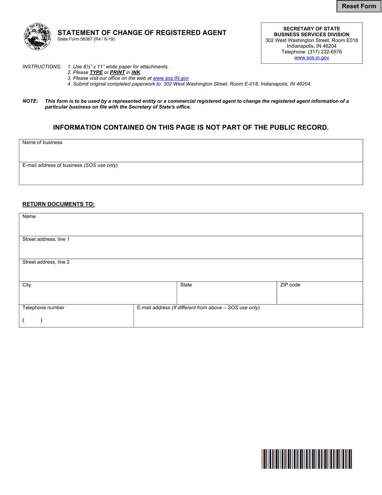 indiana-notice-of-change-of-registered-agent