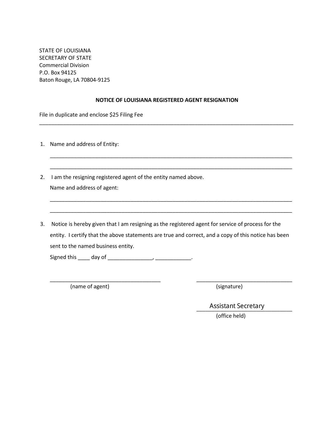 notice-of-louisiana-registered-agent-resignation