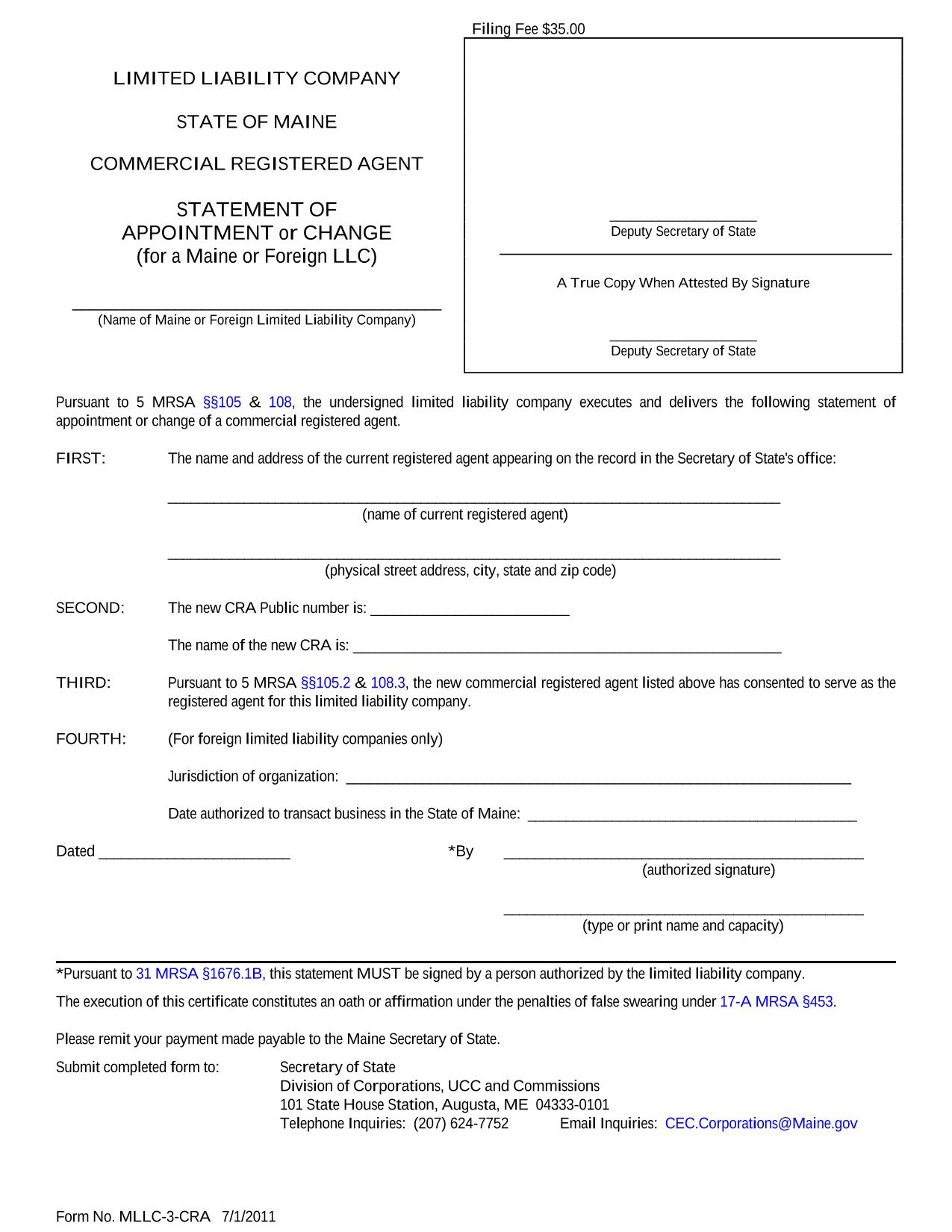 maine-llc-registered-agent-statement-of-resignation-