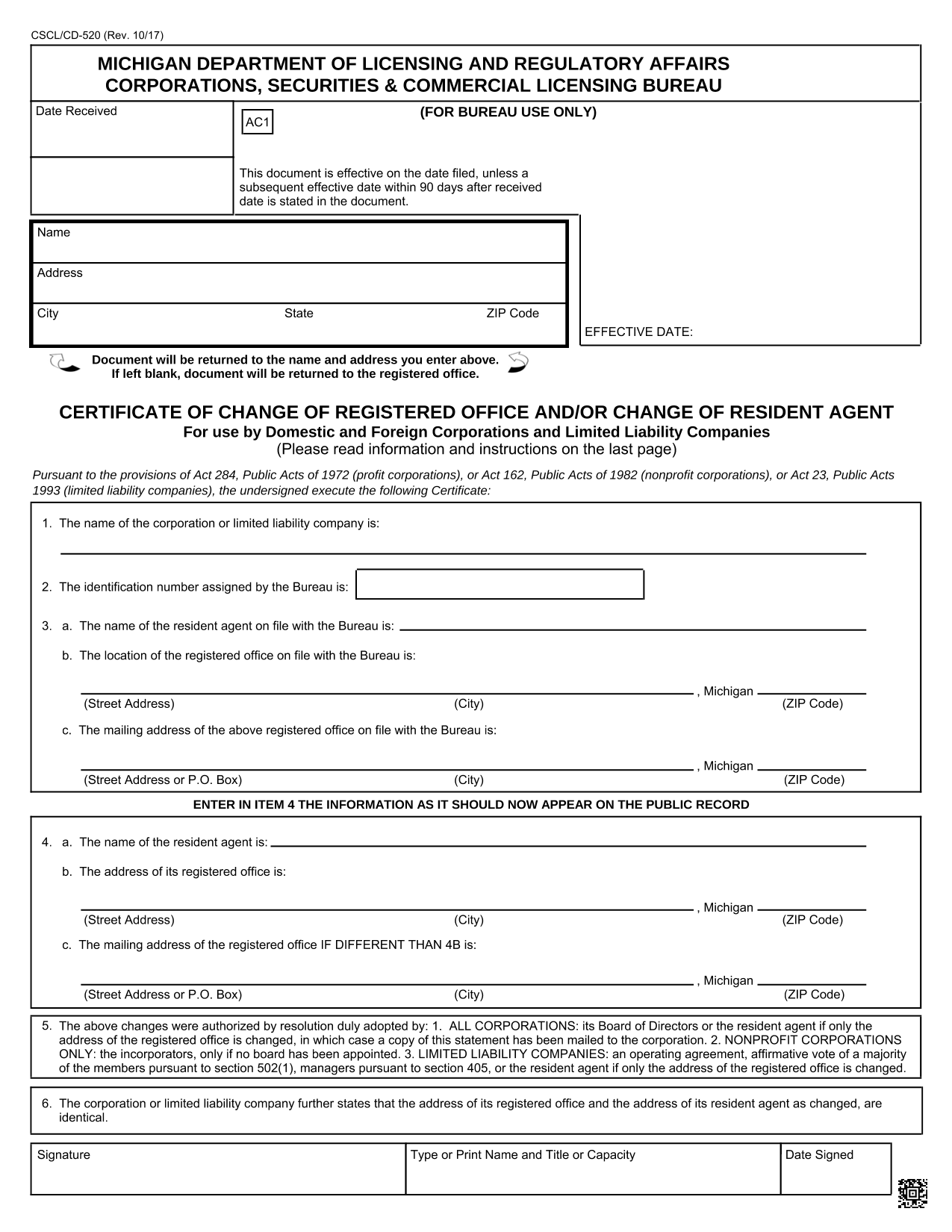 michigan-certificate-of-change-of-registered-agent
