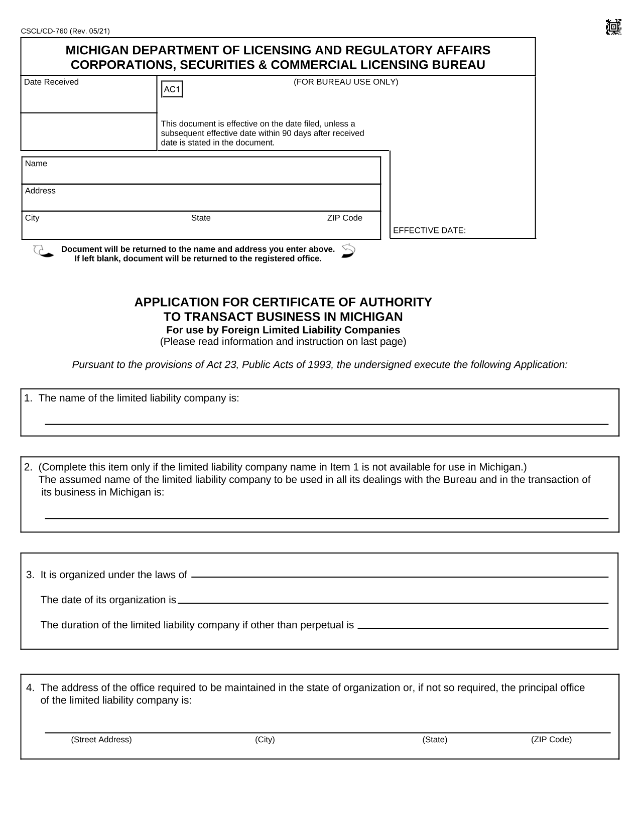 application-for-certificate-of-authority-to-transact-business-in-michigan