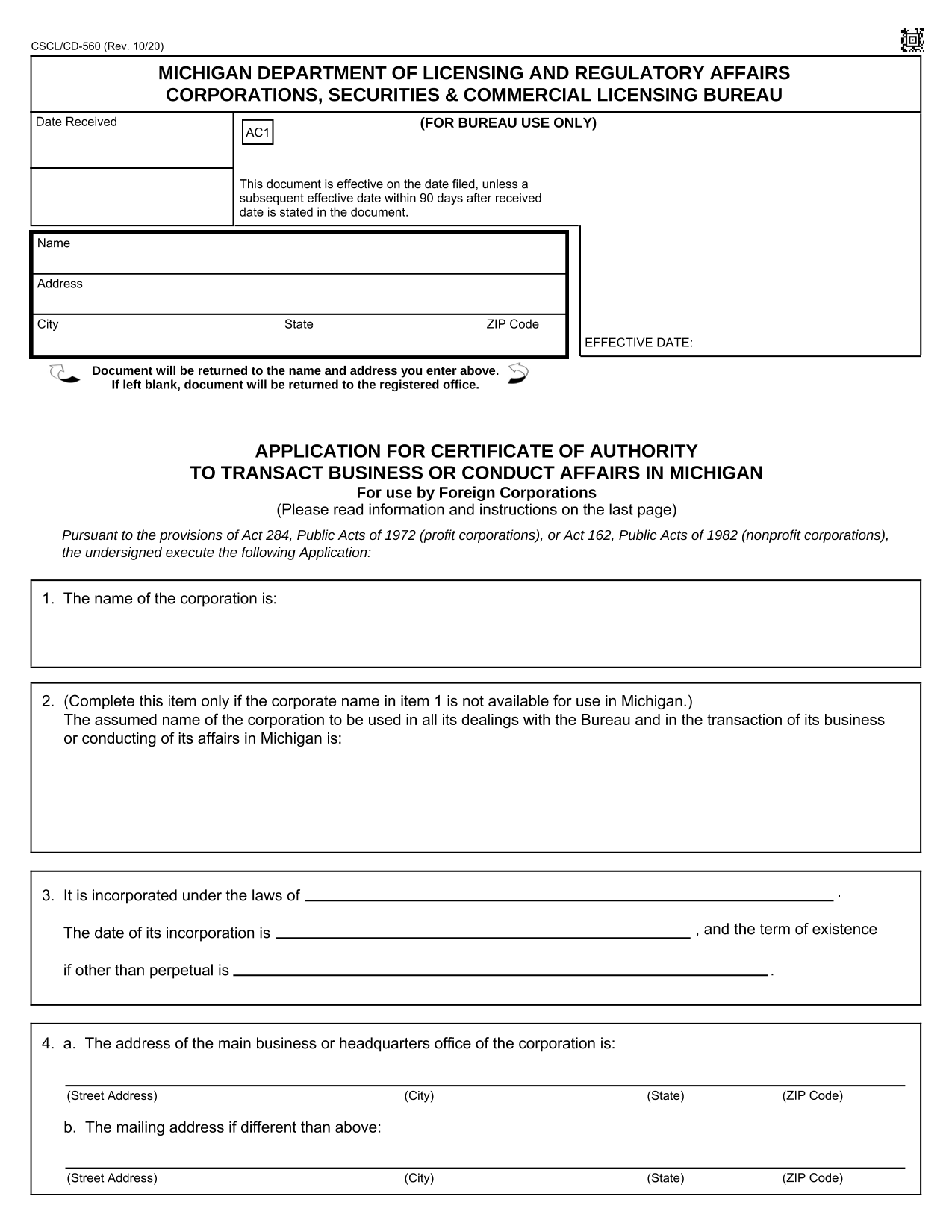 application-for-certificate-of-authority-to-transact-business-or-conduct-affairs-in-michigan