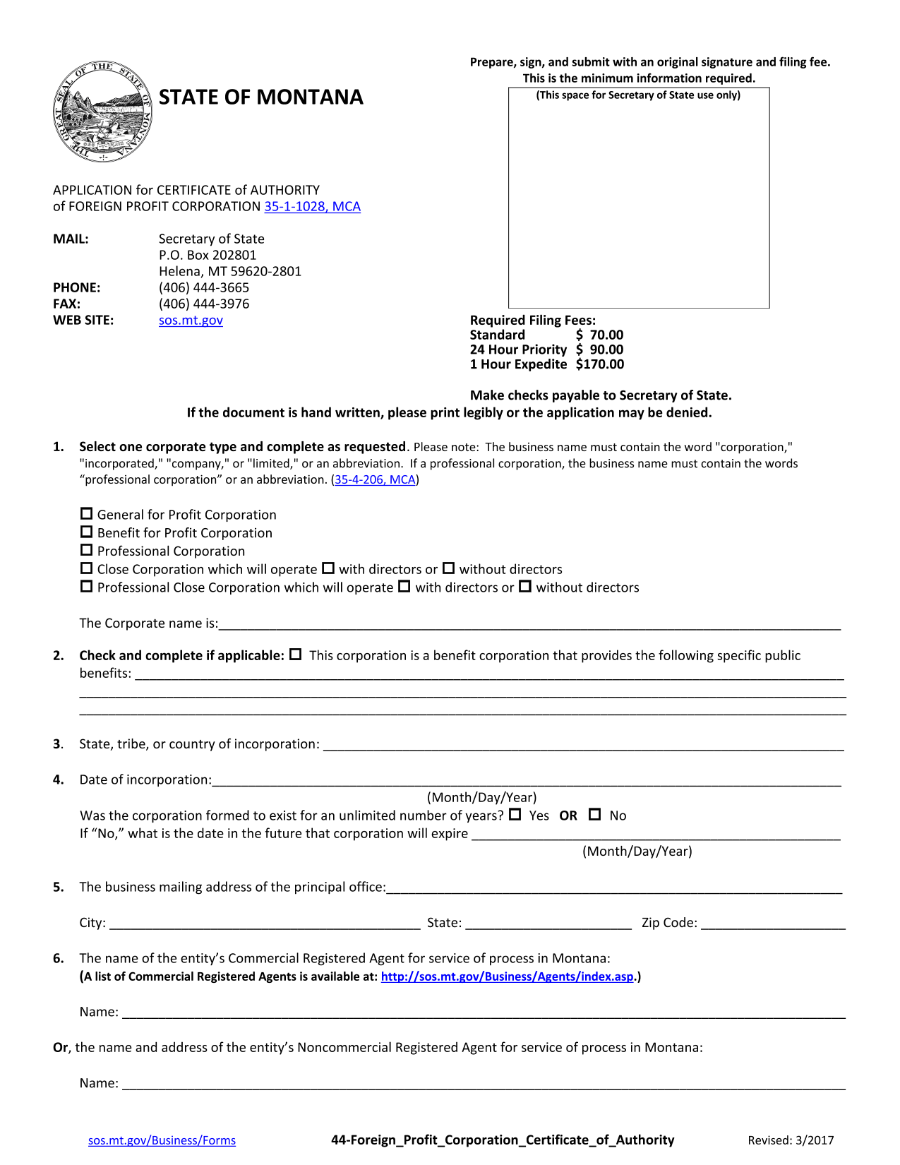 montana-foreign-corporation-certificate-of-authority-application