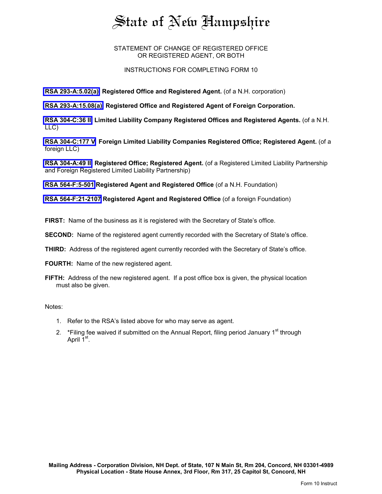 new-hampshire-statement-of-change-of-registered-agent