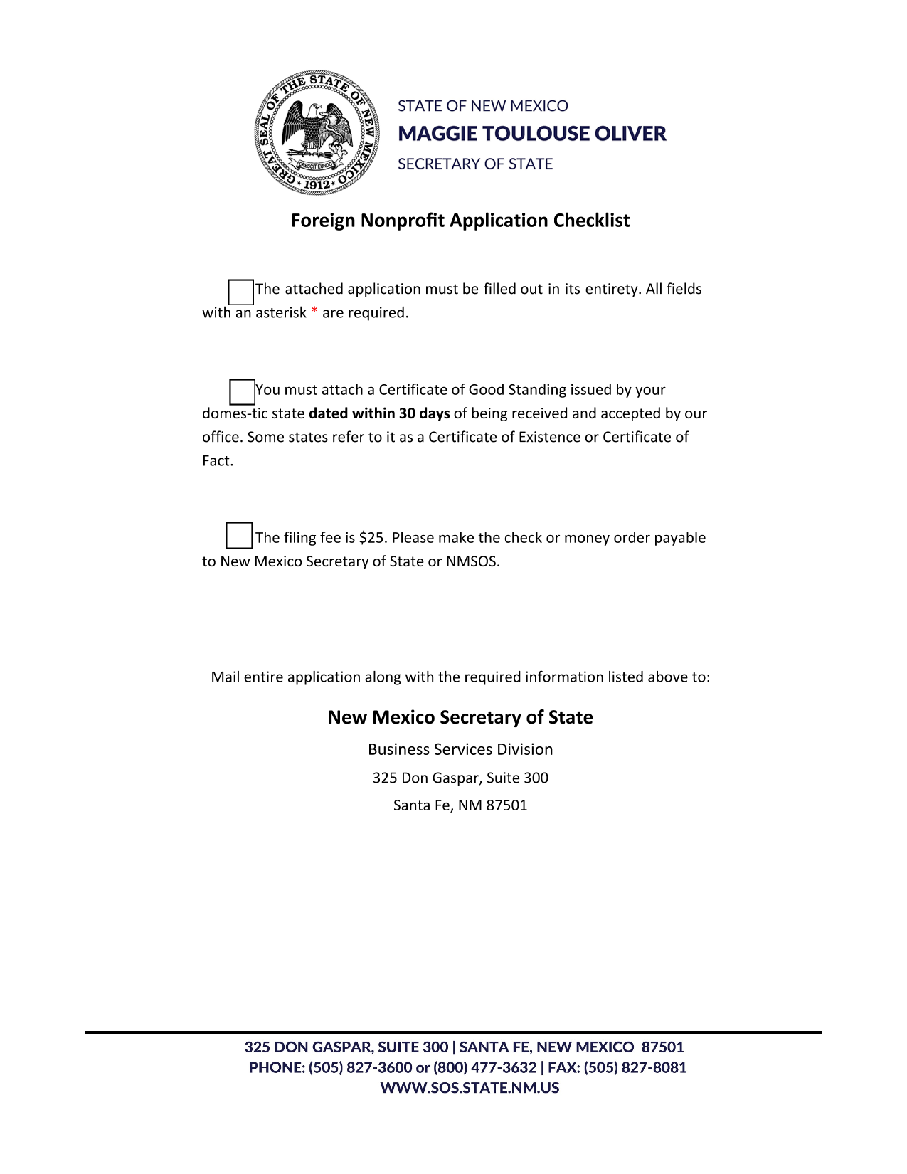 new-mexico-foreign-nonprofit-corporation-application-for-certificate-of-authority