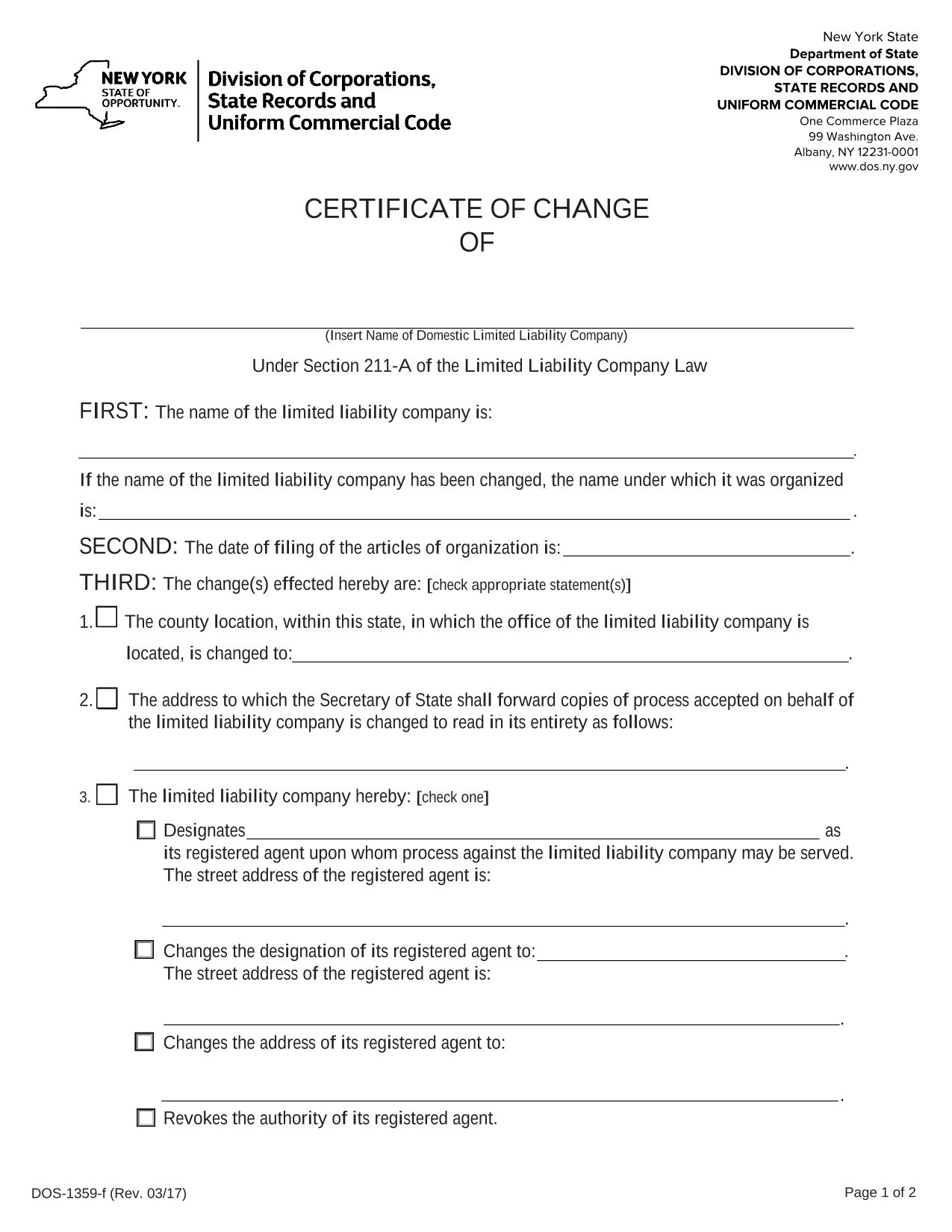 new-york-llc-certificate-of-change