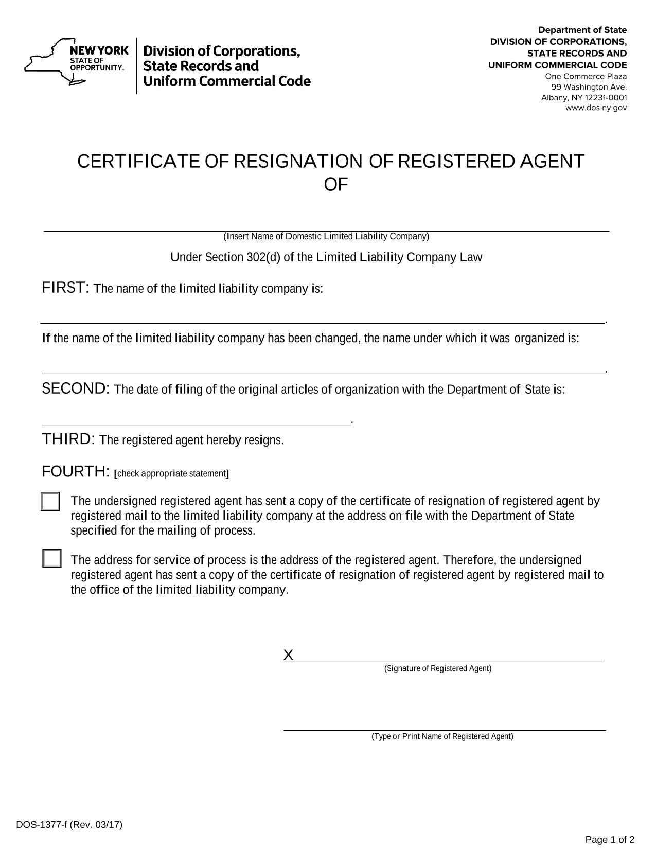 new-york-llc-certificate-of-resignation-of-registered-agent-