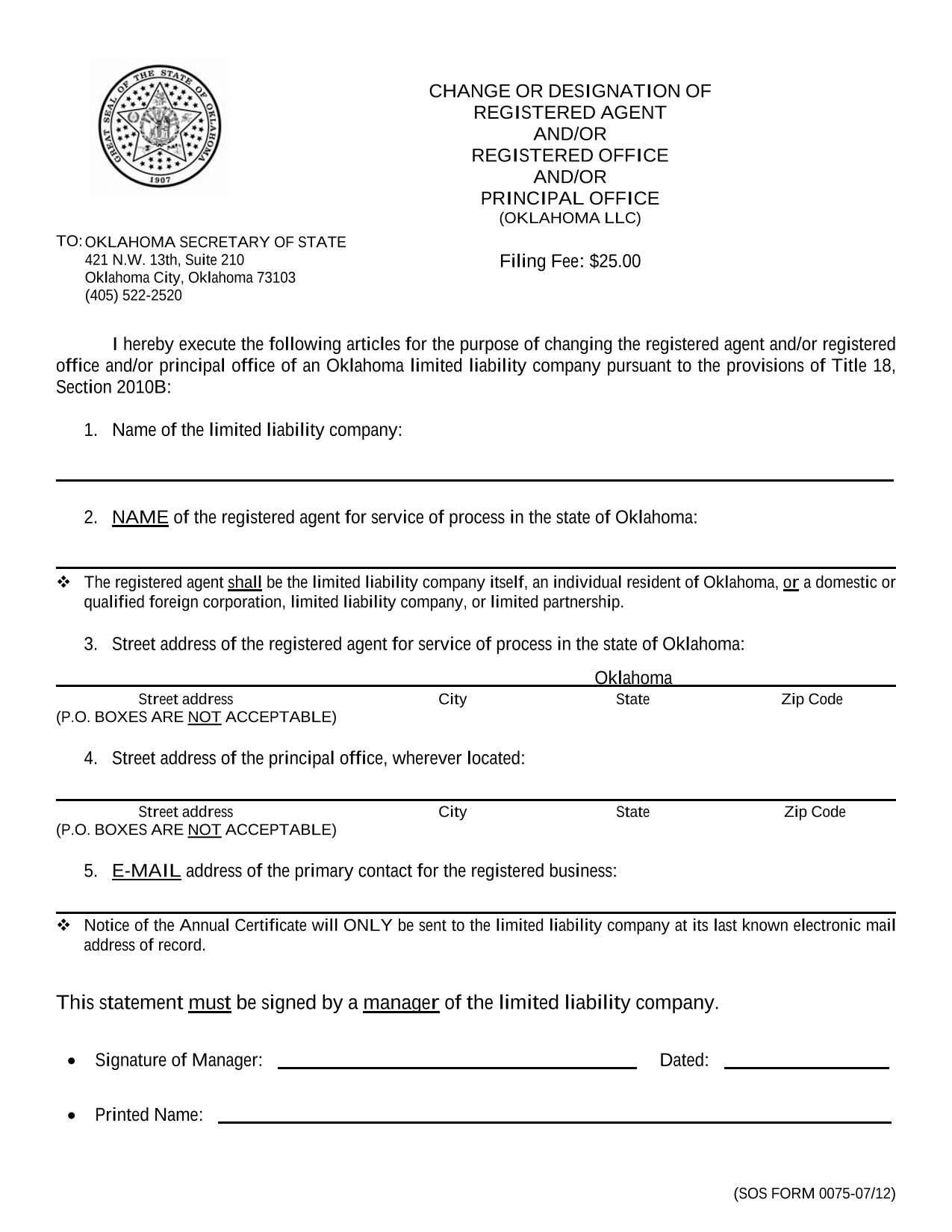 oklahoma-llc-notice-of-change-of-registered-agent