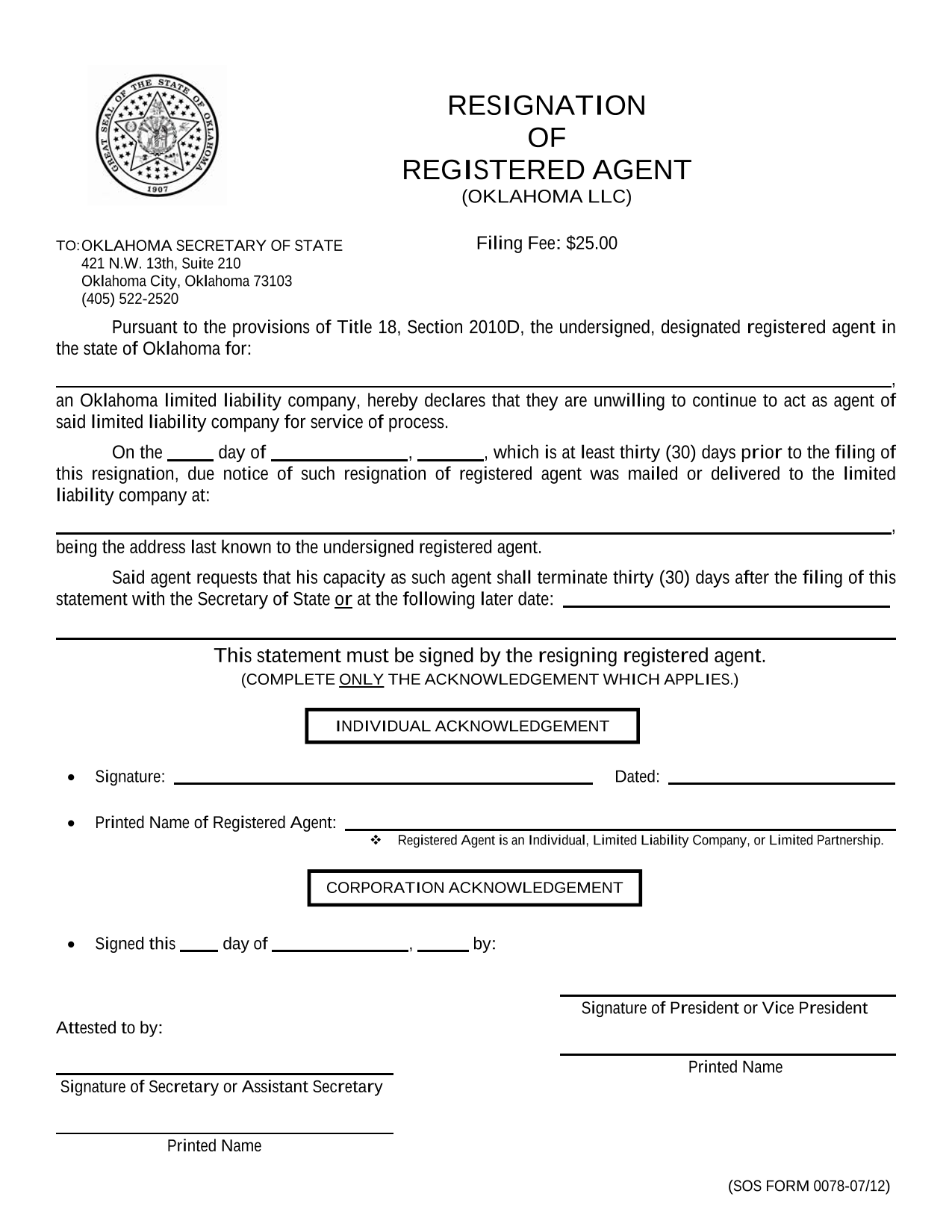 oklahoma-llc-resignation-of-registered-agent-coupled-with-appointment-of-successor