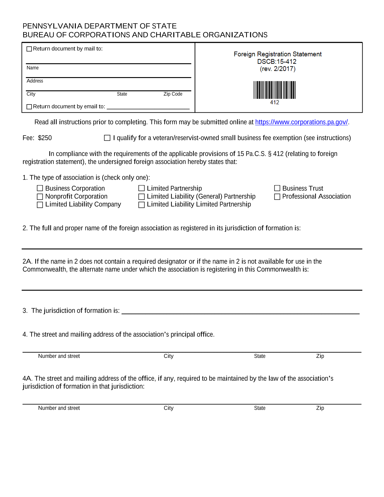 pennsylvania-foreign-corporation-application-for-certificate-of-authority