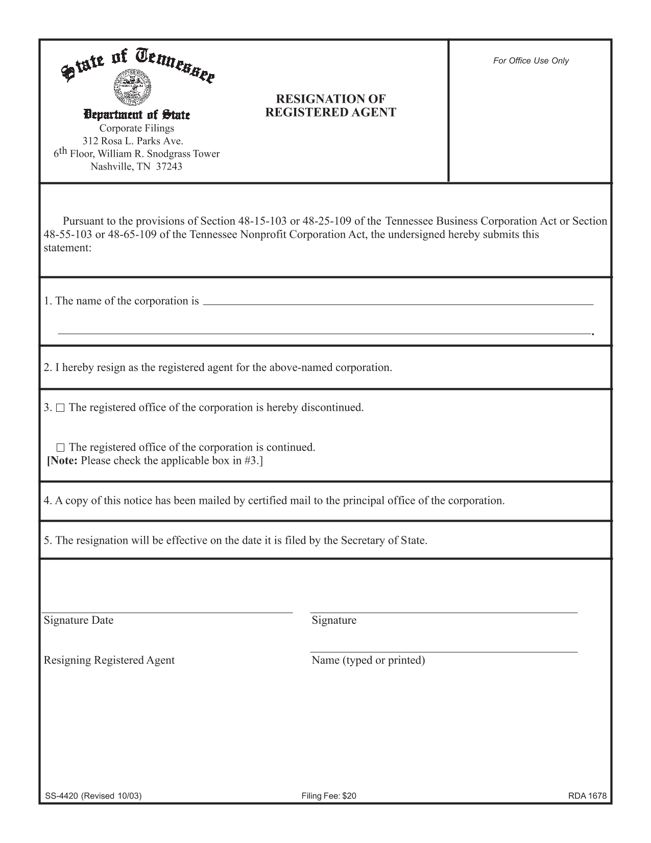 tennessee-resignation-of-registered-agent