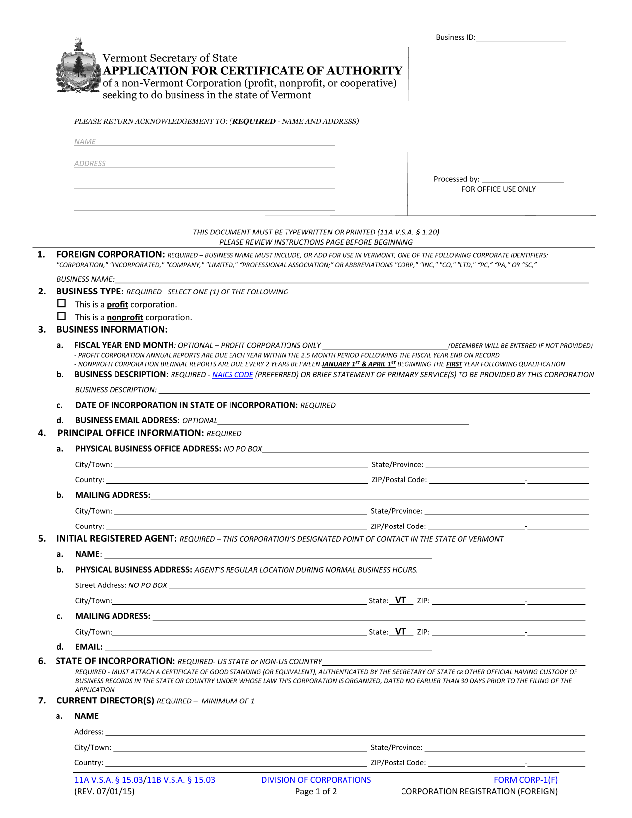 vermont-foreign-nonprofit-application-for-certificate-of-authority-