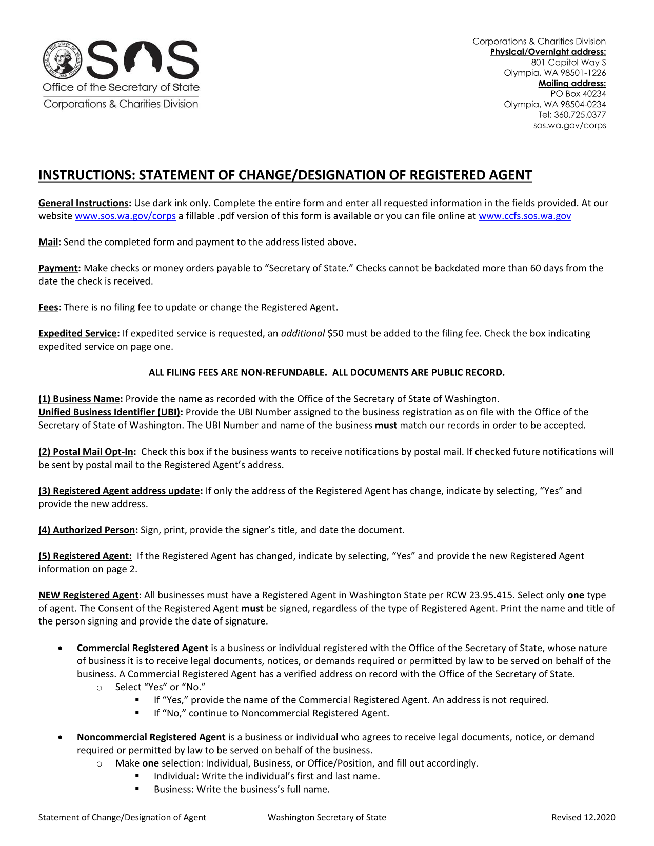 washington-statement-of-change-for-registered-agent